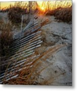 The Light On The Hill Metal Print