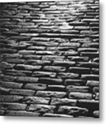 The Light On The Stone Pavement Metal Print
