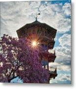 The Light Through The Pagoda Metal Print