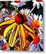 The Light Within The Flowers Metal Print