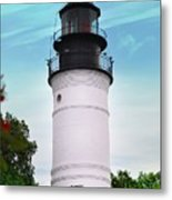 The Lighthouse At Key West Florida Metal Print
