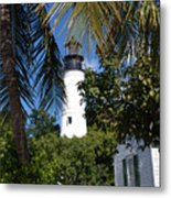 The Lighthouse In Key West II Metal Print