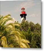 The Lighthouse In Saint Augusrtine Fl Metal Print