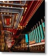The Lights Are On In Las Vegas Metal Print