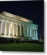The Lincoln Memorial At Night Metal Print
