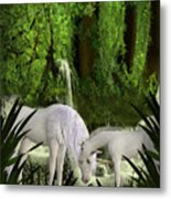 The Lineage Of Unicorns Metal Print
