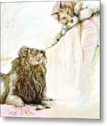 The Lion And The Fox 1 - The First Meeting Metal Print