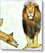 The Lion And The Fox 2 - The True Friendship Metal Print