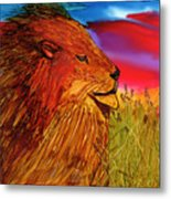 The Lion King Of Massai Mara Metal Print
