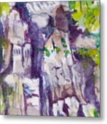 The Little Climbing Wall Metal Print