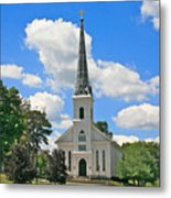 The Little Country Church Metal Print