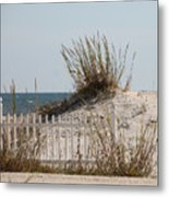 The Little Dune And The White Picket Fence Metal Print