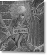 The Little Matchseller Metal Print