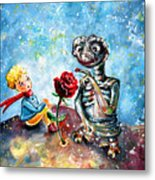 The Little Prince And E.t. Metal Print