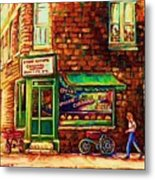 The Little Red Wagon Metal Print