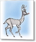 The Little Reindeer  Metal Print