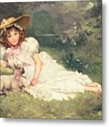 The Little Shepherdess Metal Print
