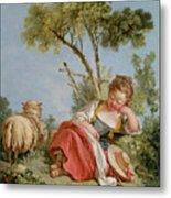The Little Shepherdess Metal Print