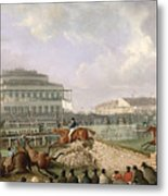 The Liverpool And National Steeplechase At Aintree Metal Print