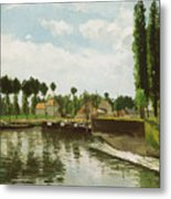 The Lock At Pontoise Metal Print