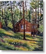 The Log Cabin Metal Print
