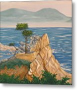 The Lone Cypress Tree Metal Print