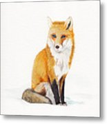 The Lone Fox Metal Print