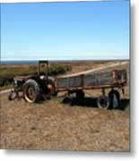 The Lone Wagon Metal Print