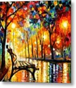 The Loneliness Of Autumn Metal Print by Leonid Afremov