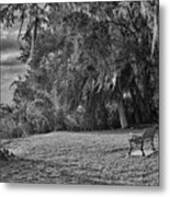 The Lonely Bench Metal Print