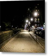 The Lonely Street By Central Park Ny Metal Print