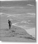 The Lonely Surfer Dude Metal Print