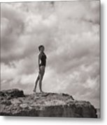 The Long Distance Swimmer Metal Print