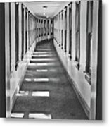 The Long Hall Metal Print