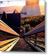 The Long Long Stairway    Metal Print