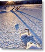 The Long Shadows Of Winter Metal Print