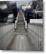 The Long Walk To Work Metal Print