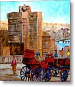 The Lookout On Mount Royal Montreal Metal Print