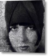 The Louise Brooks Tattoo Take 2 Metal Print