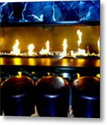 The Lounge Fireplace Metal Print