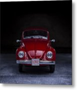 The Love Bug Square Metal Print