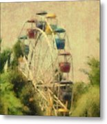 The Lover's Ride Metal Print
