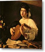The Lute Player Metal Print