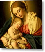 The Madonna And Child Metal Print by Il Sassoferrato