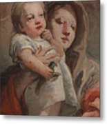 The Madonna And Child With A Goldfinch Metal Print