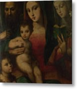 The Madonna And Child With Saints Metal Print