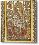 The Madonna Enthroned With Eighteen Holy Women Metal Print
