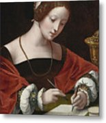 The Magdalene Writing A Letter Metal Print