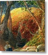 The Magic Apple Tree Metal Print by Samuel Palmer