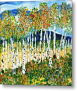 The Magical Aspen Forest Metal Print by Christy Woodland